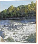 Shell Rock Dam Wood Print