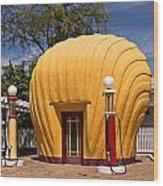 Shell-shaped Shell Station North Carolina Wood Print