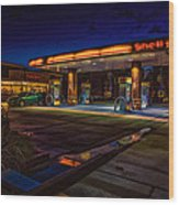 Shell Station Wood Print