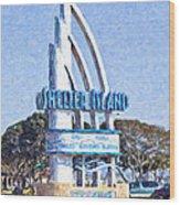 Shelter Island Sign San Diego California Usa Wood Print