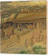 Shelter Under The Cliffs Wood Print