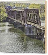Shelton Derby Railroad Bridge Wood Print