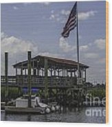 Shem Creek Bar And Grill Wood Print