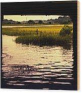 Shem Creek Wood Print