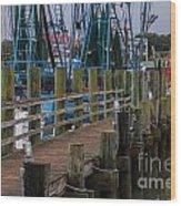Shem Creek Pier Wood Print