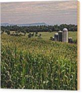 Shenandoah Corn Wood Print