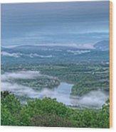 Shenandoah Evening Fog Wood Print