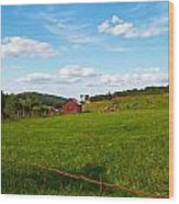 Shenandoah Farm Wood Print