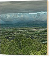 Shenandoah Green Valley Wood Print by Lara Ellis