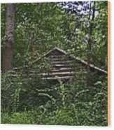 Shenandoah Log Cabin Wood Print
