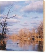 Shenandoah River In Late Autumn Wood Print