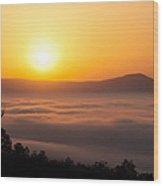 Shenandoah Spring Sunrise Wood Print