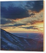 Shenandoah Sunset Wood Print