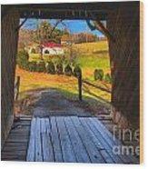Shenandoah Virginia Covered Bridge Wood Print