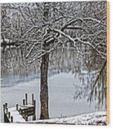 Shenandoah Winter Serenity Wood Print by Lara Ellis