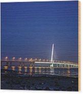 Shenzhen Bay Bridge Wood Print