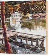 Shepherd Mountain Lake Bright Wood Print by Kip DeVore