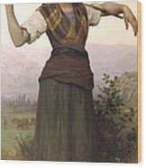 Shepherdess Wood Print