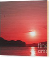 Shepherd's Delight Sunset Wood Print