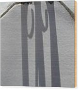 Shepherds Hook Shadow Wood Print