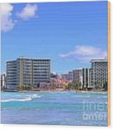 Sheraton And Royal Hawaiian View Wood Print