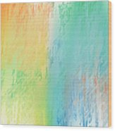 Sherbet Abstract Wood Print by Andee Design