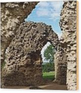 Sherborne Arches Wood Print