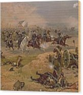 Sheridan's Final Charge At Winchester Wood Print by American School