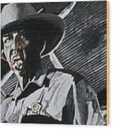Sheriff Hoyt Wood Print by Jeremy Moore