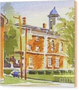 Sheriffs Residence With Courthouse II Wood Print