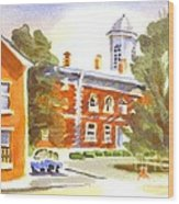 Sheriffs Residence With Courthouse Wood Print