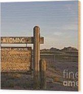 Sherman Mountains Wyoming Wood Print