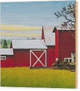 Sherman Squash Farm Wood Print