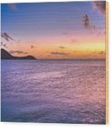 Sherri's Sunset St. Lucia Wood Print