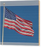 She's A Grand Old Flag Wood Print by Floyd Hopper