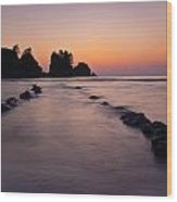 Shi Shi Beach Point Of Arches Wood Print