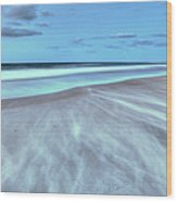 Shifting Sands On Frisco Beach Outer Banks I Wood Print