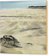 Shifting Sands On Ocracoke Outer Banks Wood Print by Dan Carmichael