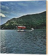 Shikara In Manasbal Lake Wood Print