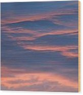 Shimmering Clouds Wood Print