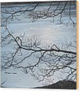 Shimmering Ice Wood Print