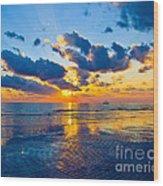 Shimmering Sundown Wood Print
