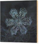 Snowflake Photo - Shine Wood Print