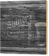 Shiner Black Lager Wood Print