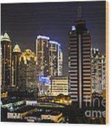 Shining Jakarta Wood Print