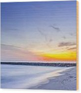 Shinnecock Inlet Sunset Wood Print