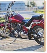 Shinny Red Bike Wood Print