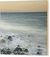 Shiny Rocks At The Sea Wood Print
