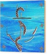 Ship Anchor Wood Print