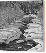 Ship Creek Wood Print by Ed Boudreau